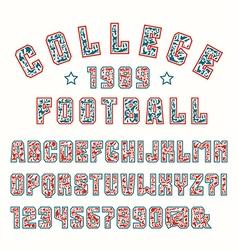 Sans serif font with contour vector image