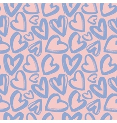 Seamless pattern of lilac hearts vector