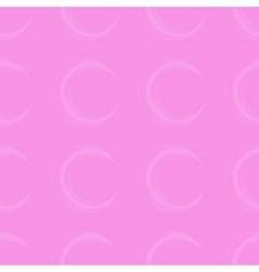 Seamless pattern with circle brush strokes vector