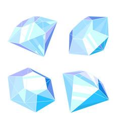 set diamonds isolated vector image