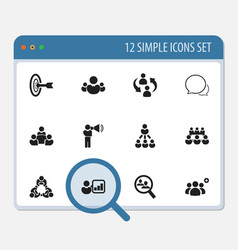 set of 12 editable community icons includes vector image
