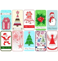 Set of ten Christmas Cards vector