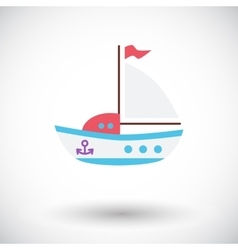 Ship toy vector image