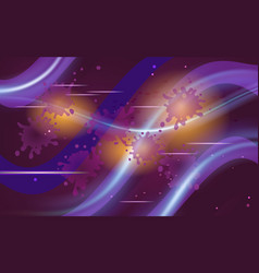 Space flight purple background with violet vector