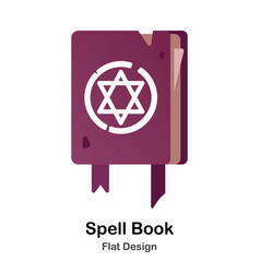 Spell book flat icon vector