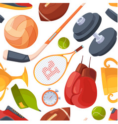 sport pattern fitness club items collection vector image