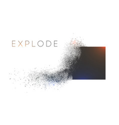 Square explosion with abstract burst vector
