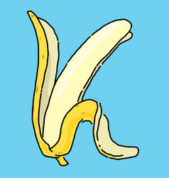 symbol of banana cartoon style vector image