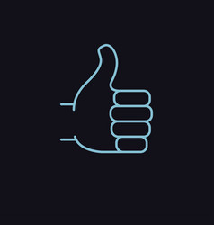 thumb up symbol vector image