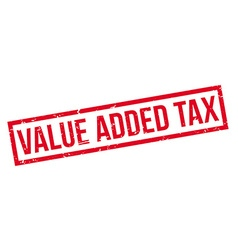 Value Added Tax rubber stamp vector