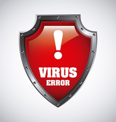 virus design vector image