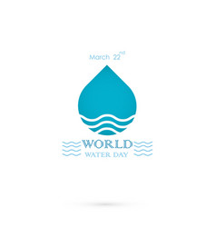 water drop with water waves icon logo design vector image