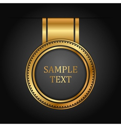 gold label on black vector image vector image