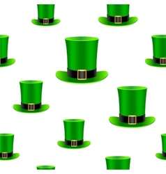 Patrick hat background vector image vector image