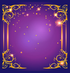 Shining purple card vector
