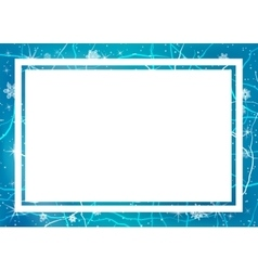 Frame of ice Winter frame vector image vector image