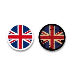 Grunge British flag badges vector image vector image