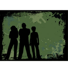 grunge youth vector image