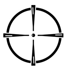 paintball gun sight icon simple style vector image