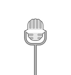 Retro microphone on white background Accessory for vector image vector image