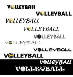 Volleyball text for logo the team and the cup vector image vector image