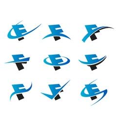 Alphabet F Logo Icons vector image vector image