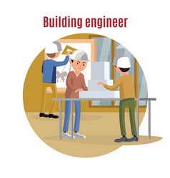 building engineering concept vector image