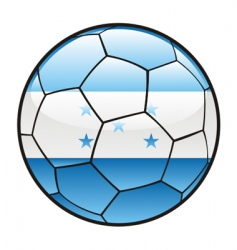 flag of Honduras on soccer ball vector image vector image