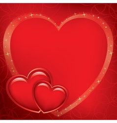 red romantic card for valentines day vector image