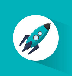 Rocket transport space icon vector