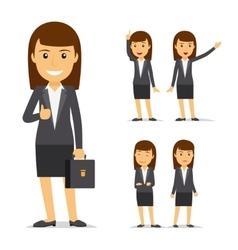 Businesswoman cartoon character vector image vector image