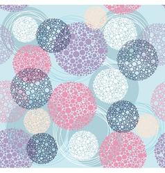Cute seamless polka dot circle pattern vector image vector image