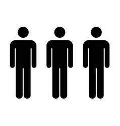 people icon - men vector image