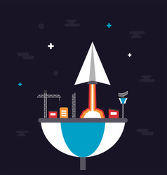 487paper plane launching from base vector image