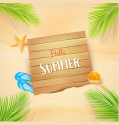 Abstract background summer sand beach with element vector