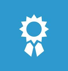 Achievement icon white on blue background vector