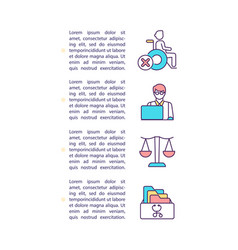 Appealing a disability claim denial concept icon vector