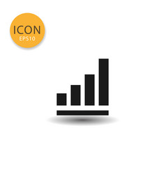 bar chart icon isolated flat style vector image