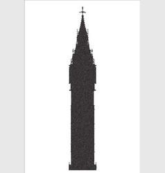 big ben stipple silhouette vector image