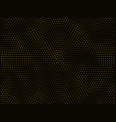 black background with gold glitter pattern vector image
