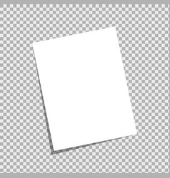 blank a4 white sheet with peeled corner and vector image