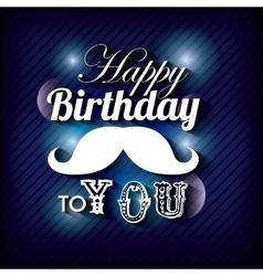 Blurred background Happy Birthday design vector image