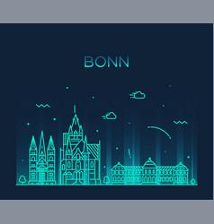 bonn skyline north rhine westphalia germany vector image