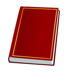 book on white vector image