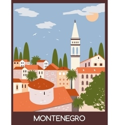 Budva city in montenegro vector