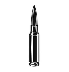 Bullet cartridge from assault rifle design vector