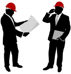 businessmen with hard hat vector image