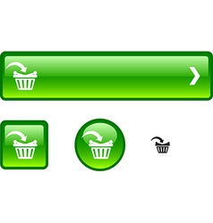Buy button set vector image