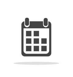 Calendar icon on white background flat style vector