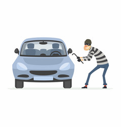 car thief - cartoon people characters vector image